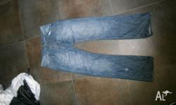 Jeans are size 34 and have been worn once. VGC $15
