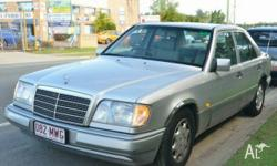 MERCEDES-BENZ, E220, 124, 1993, RWD, Silver, GREY trim,