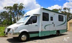 Mercedes Automatic Island Bed Motorhome, 2007, White,