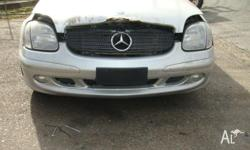 mercedes benz slk320 r170 2001 rear wheel drive silver