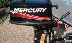 Mercury 5 HP short shaft 2 stroke outboard motor as new