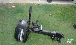 5HP Mercury outboard with forward and reverse . Had
