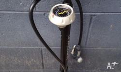 Fully functioning, high pressure bicycle pump. Up to