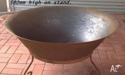 New all metal Fire Pit with Metal Stand. JUMBO 1200 mm