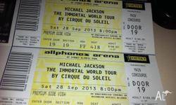 3 x Michael Jackson The Immortal World tour by Cirque