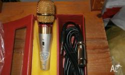 high quality microphone gold colour and black colour is