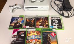 Microsoft Xbox 360 console + 7 games. Great condition.