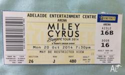 I have a ticket to Miley Cyrus' Bangers World Tour