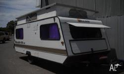 Millard LP470 Pop Top Caravan Single Beds, 1987, Pop