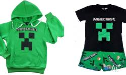 Size 6 Minecraft bundle Green hoodie and a pair of