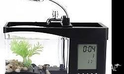 Small fish tank about 1litre capacity Great little desk