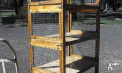 PLEASE SMS OR PHONE THANK YOU. 4 Cages on top of each