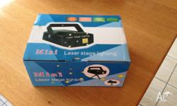 Mini laser stage light - two colours, brand new