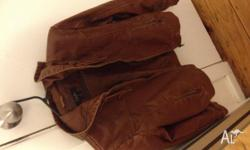 Hi guys, I have these two leather jackets; one in brown