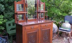 This small Victorian mahogany mirror backed sideboard
