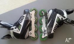 Mission Soldier SE roller hockey blades that were used