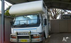 Mitsubishi Canter Motorhome, 4 birth, rego June 2014,