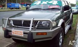 MITSUBISHI,CHALLENGER,PA,1998, 4WD, green/silver, 4D