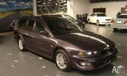 MITSUBISHI,LEGNUM,1998, AWD, PURPLE, GREY trim, 4D