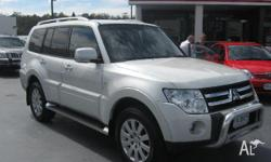 MITSUBISHI,Pajero,NT MY09,2008, 4X4, WHITE, BLACK trim,