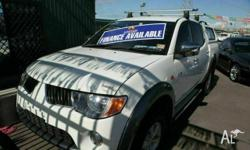 MITSUBISHI,TRITON,2008, White, 128268kms, Alloy Wheels,