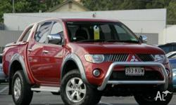 MITSUBISHI,TRITON,ML MY08,2007, 4x4, Maroon, GREY trim,