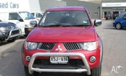 MITSUBISHI,Triton,ML MY08,2008, 4X4 Dual Range, RED,