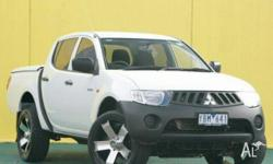 MITSUBISHI,TRITON,ML MY08,2008, 4x4, White, DOUBLE CAB