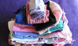 Mostly size 1 with a few size 2 items. tops, pants,