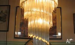 Modern Chandelier Light. Reclaimed from a mansion in