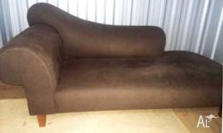 MODERN Chocolate Suede Corner COUCH SOFA LOUNGE CHAISE