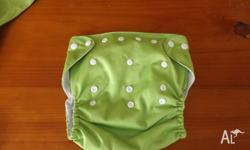 10 Alva baby Modern Cloth Nappies with inserts Nappies