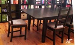 MODERN IKEA Extendable DINING Suite TABLE +6 CHAIRS Can
