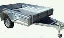 MODERN TRAILERS GALVANIZED 6X4, Box Trailer, 6X4 HOT
