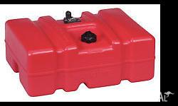 Red moeller marine fuel tank, has small crack but