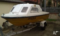 for sale My 4.42 metre fibreglass boat with working 50