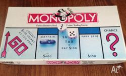 Monopoly board game set for sale. Includes all