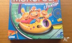 Monopoly junior ages 5 - 8. 2-4 players All pieces
