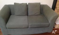 Moran Olive green 2 x 2 1/2 seater sofas. Fully
