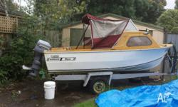 14ft 1�2cab F�Glass 6 months rego 35 hp Johnson,**KEY