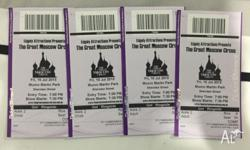 Moscow Circus tickets (2 adults, 2 children). Friday