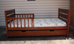Mother's Choice Solid Timber Toddler Bed. Complete with