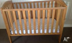 Excellent condition for this wooden cot from a pet and