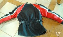 Black & red RJAYS Motorcycle jacket Voyager 2, large,