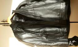 "LEATHER ""THE PROTECTED SPECIES"" MOTORCYCLE JACKET size"