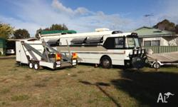 Motorhome includes 2 flat screen tvs with tv sat disc 3