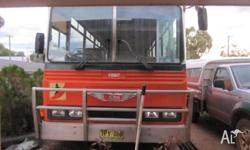 Hino bus, no seats accept for driver, ready to turn