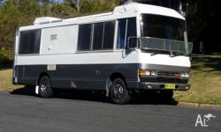 Hino Rainbow 145--Professionally converted to motorhome