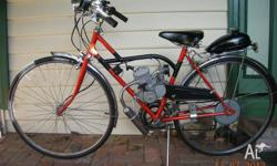 Retro style motorised bicycle made from 70's/80's