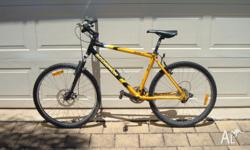Scorpion mountain bike. 27 speed Shimano Deore gears